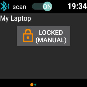 Watch says PC is locked.